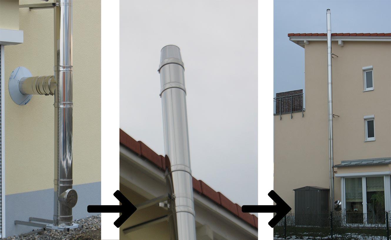 Ofenbau Pletzer Edelstahl - Schornstein
